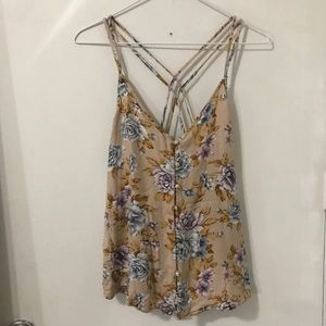 American Eagle outfitters floral button down Cami